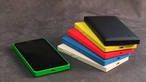Смартфоны Nokia-X - разные цвета корпуса