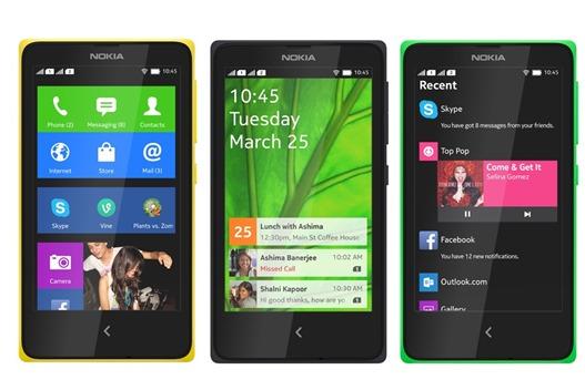 Смартфоны Nokia-X на базе Android