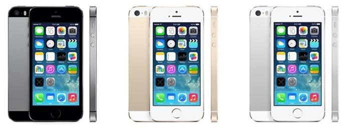 Apple iPhone 5s предлагает в серебристом, золотистом и черном корпусах