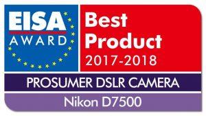Фотокамера Nikon D7500 – лучшая в Европе по мнению EISA
