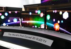 LG начала продажи 3D-телевизора с изогнутым экраном