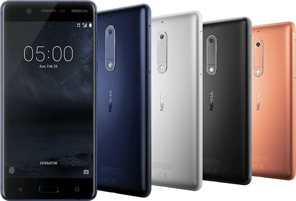 Смартфон Nokia 5 в разных цветах