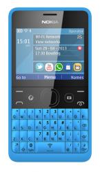 Новый Nokia Asha 210 для социальных сетей