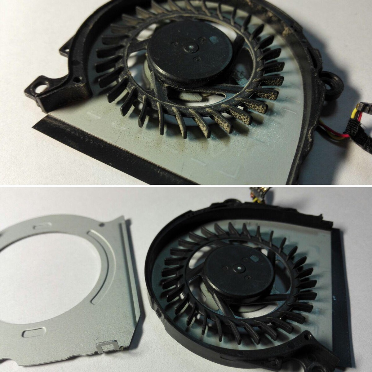 Кулер системы охлаждения до и после чистки