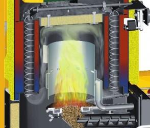 Как избежать появления «обратного огня» в пеллетных котлах?