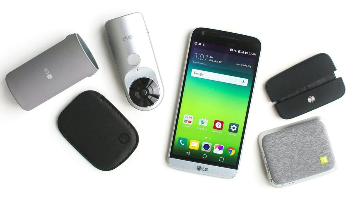 Смартфон LG G5 со сменными модулями