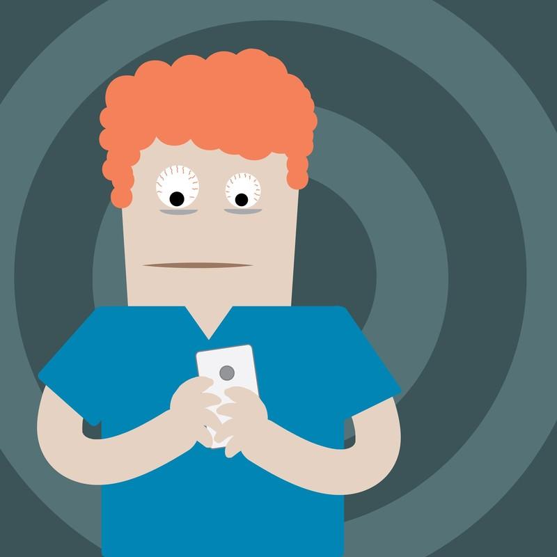 Смартфон и человек